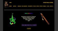 Page d'accueil du site de Didier Malherbe