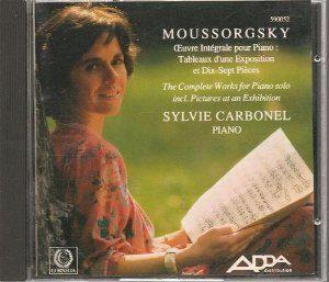 Album Sylvie Carbonel joue Moussorgsky