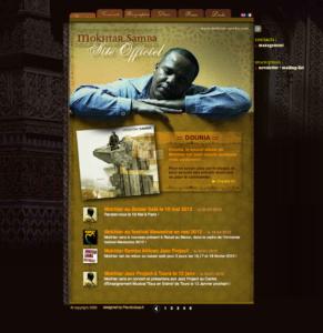 Copie d'écran du site web de Mokhtar Samba
