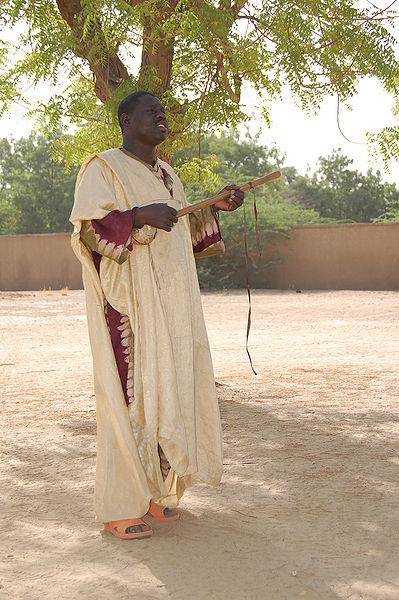 Griot jouant du Xalam sous un arbre (cc) Roland